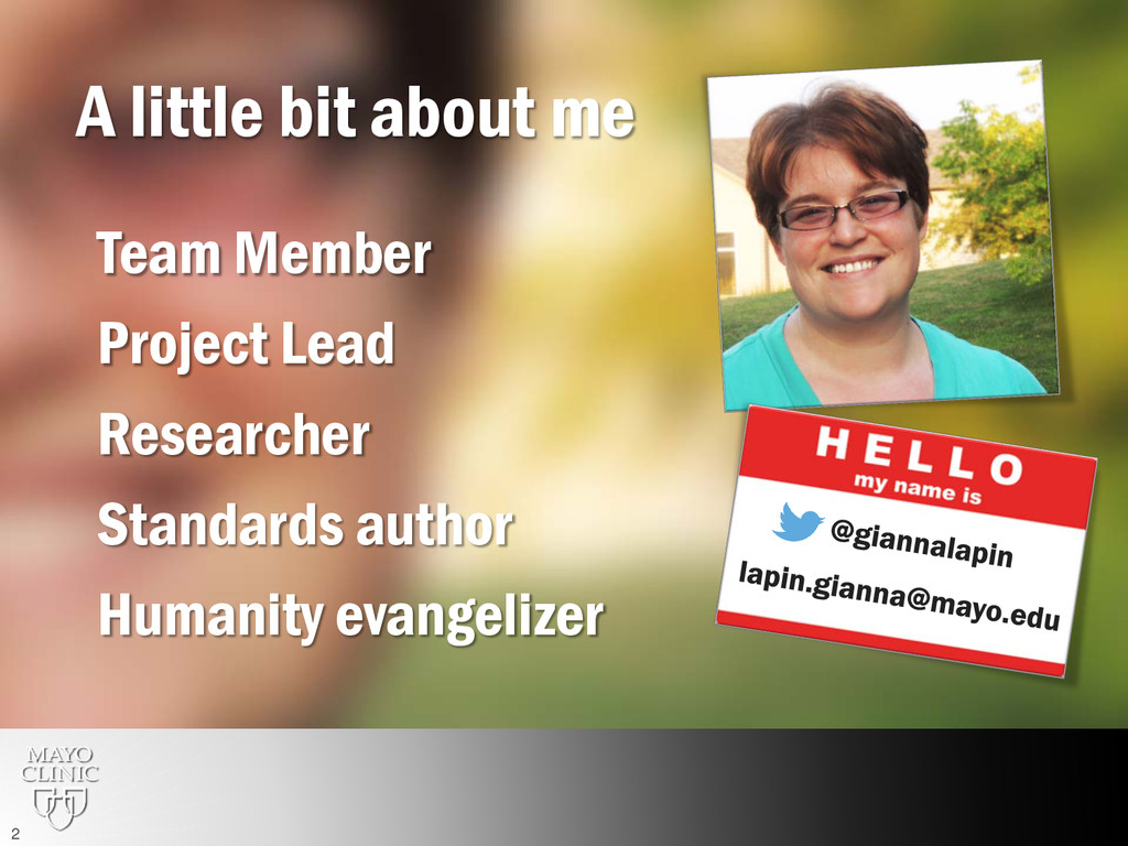 A little bit about me Team Member Researcher St...