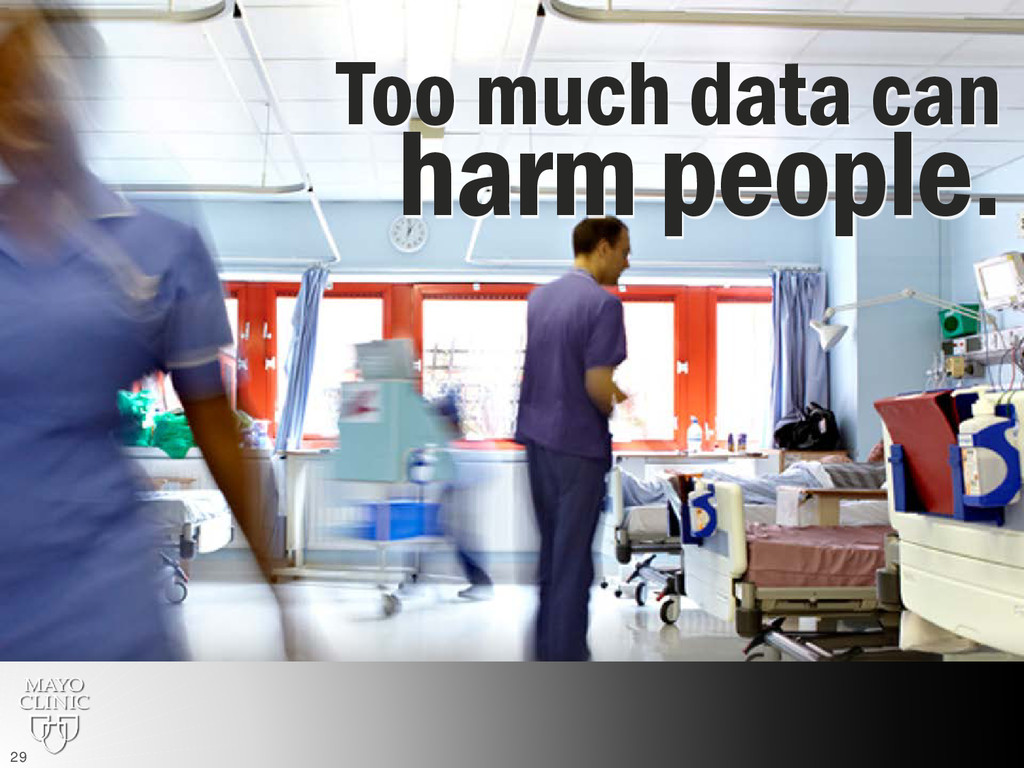 Too much data can harm people. 29