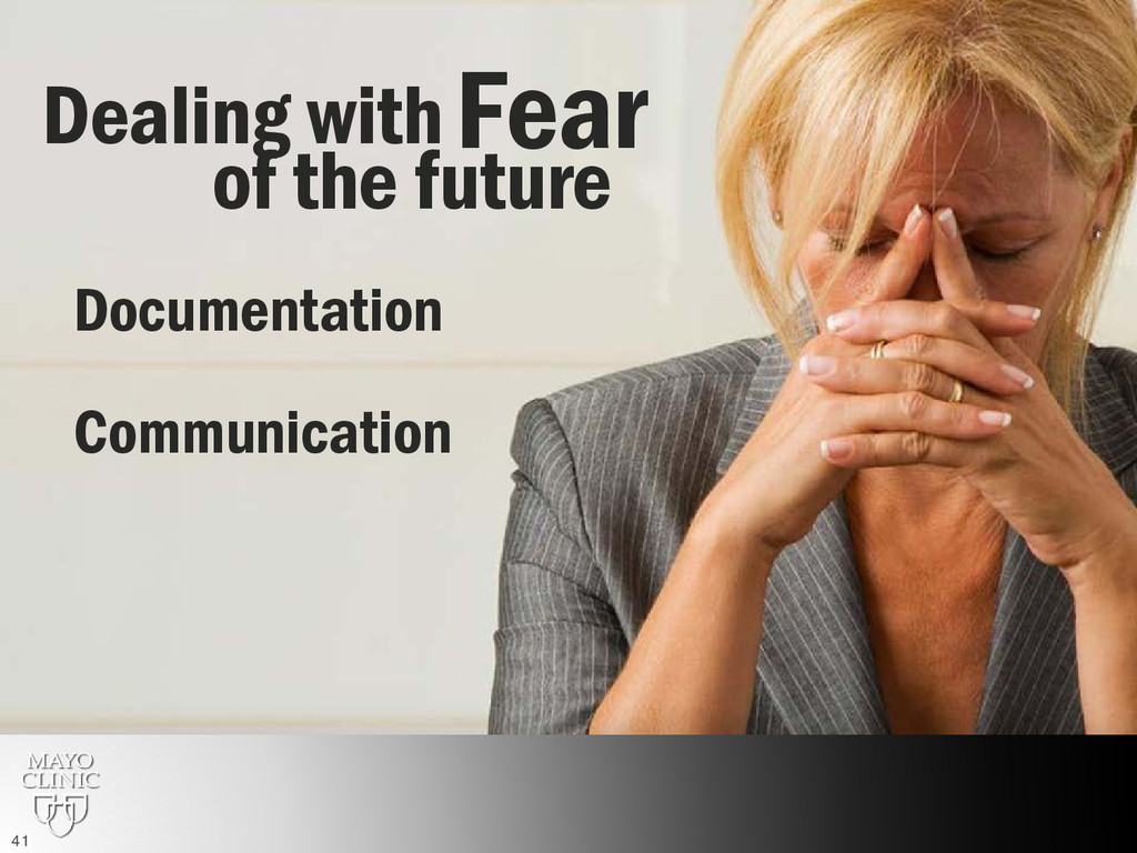 Fear Dealing with of the future Documentation C...