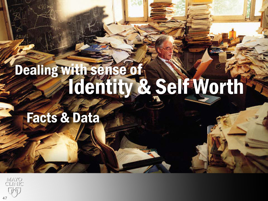 Identity & Self Worth Dealing with sense of Fac...