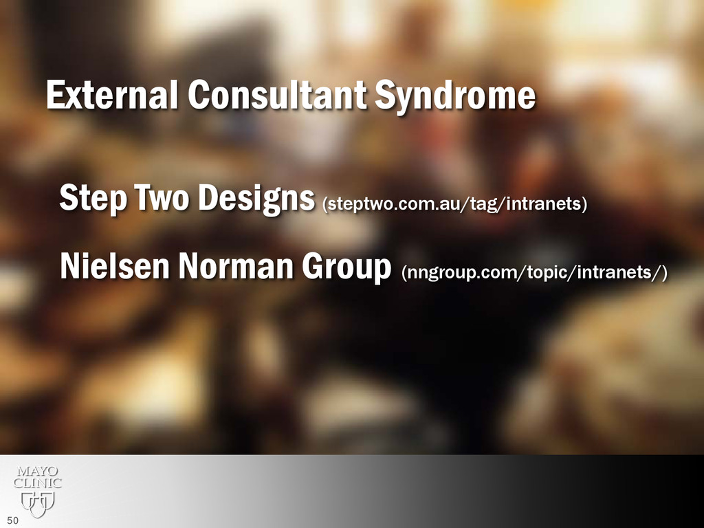 External Consultant Syndrome Step Two Designs (...