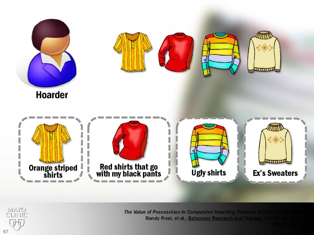 Hoarder Orange striped shirts Red shirts that g...