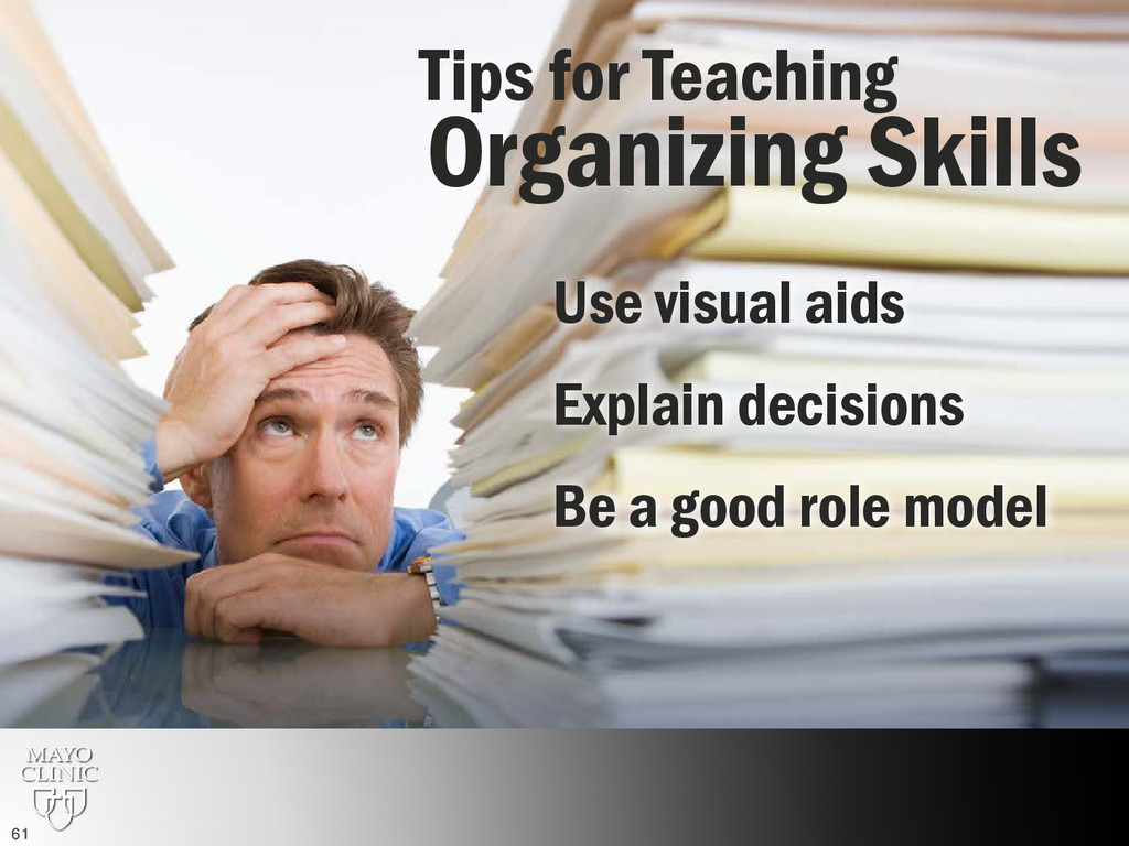 Teaching organization skills Organizing Skills ...