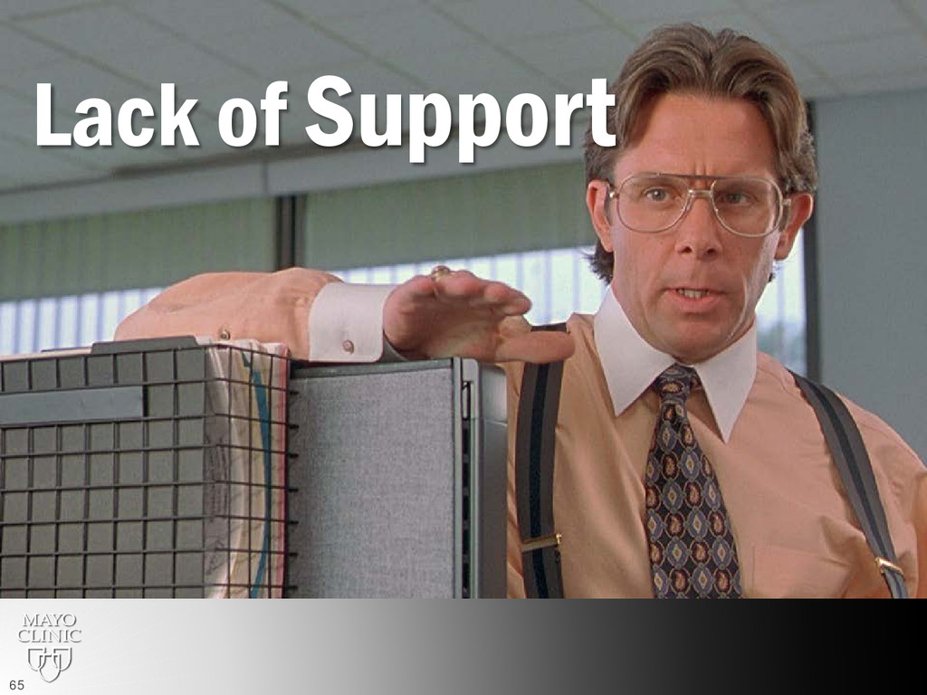 Lack of Support 65