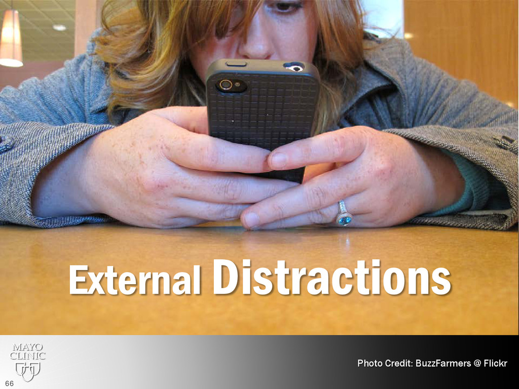 External Distractions Photo Credit: BuzzFarmers...