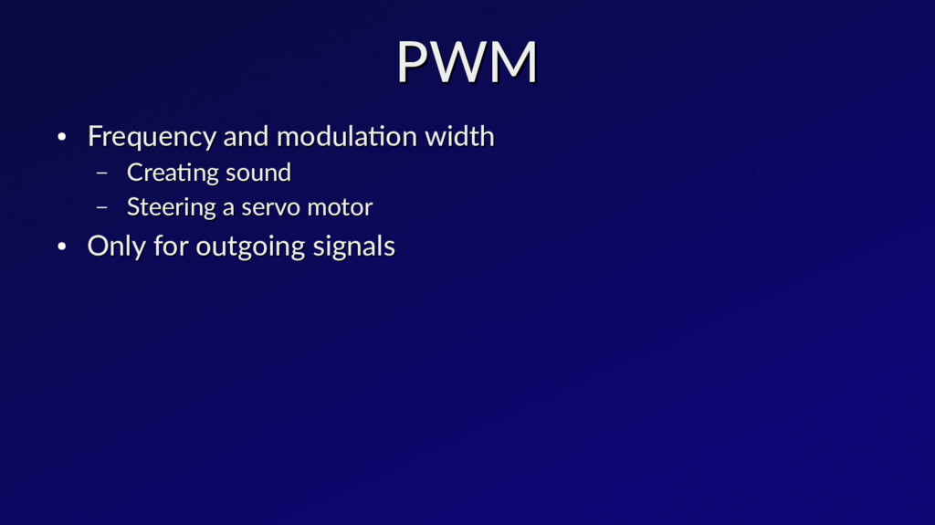 PWM PWM ● Frequency and modulation width Freque...