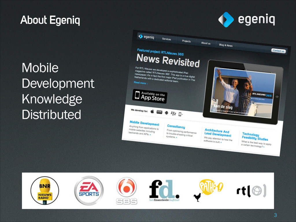 About Egeniq Mobile Development Knowledge Distr...