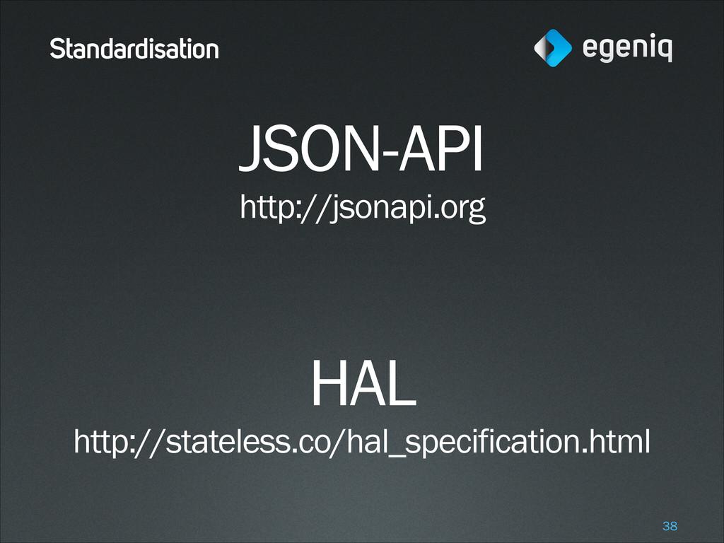 Standardisation JSON-API http://jsonapi.org ! ...