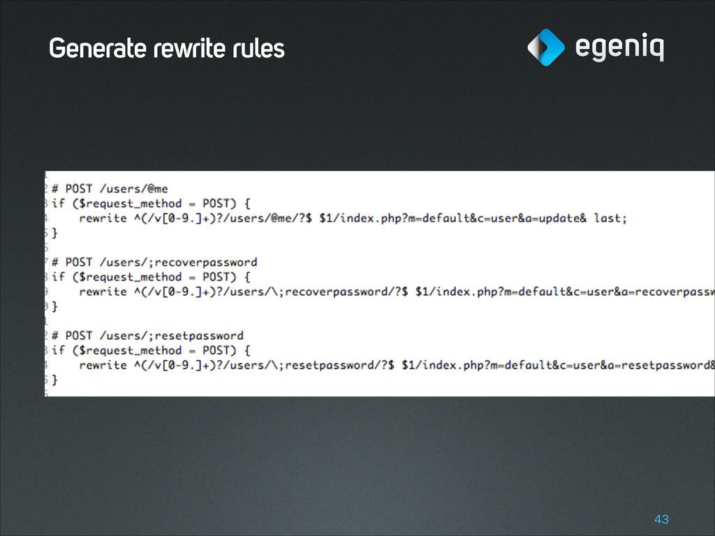 Generate rewrite rules !43
