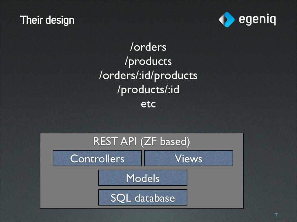REST API (ZF based) Their design !7 SQL databas...