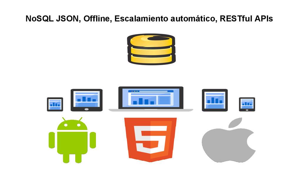 NoSQL JSON, Offline, Escalamiento automático, R...
