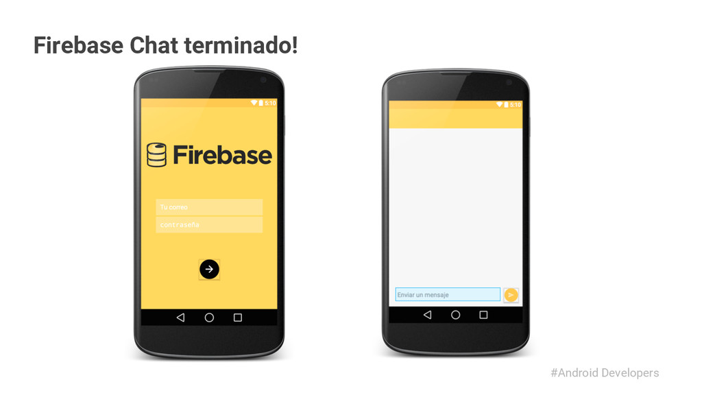#Android Developers Firebase Chat terminado!