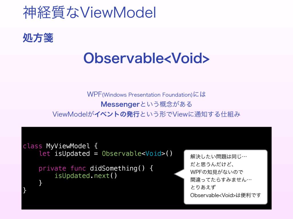 ਆܦ࣭ͳ7JFX.PEFM ॲํᝦ 0CTFSWBCMF7PJE class MyView...