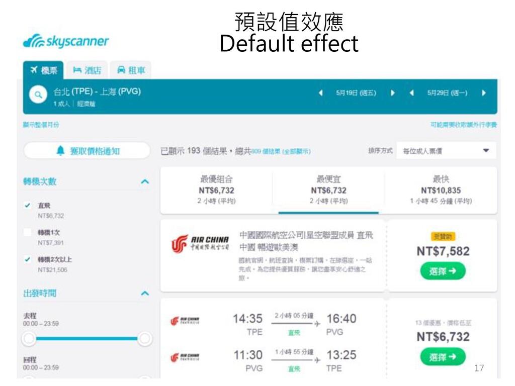 預設值效應 Default effect 17