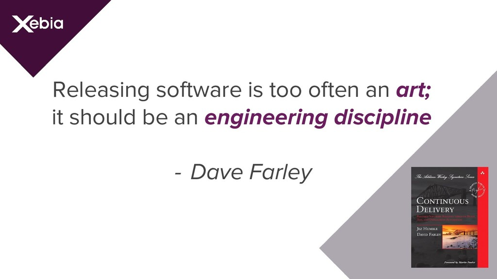 Releasing software is too often an art; it shou...