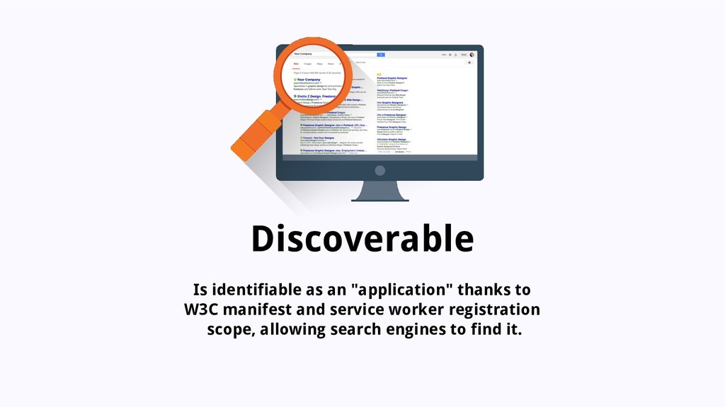 "Discoverable Is identifiable as an ""application..."
