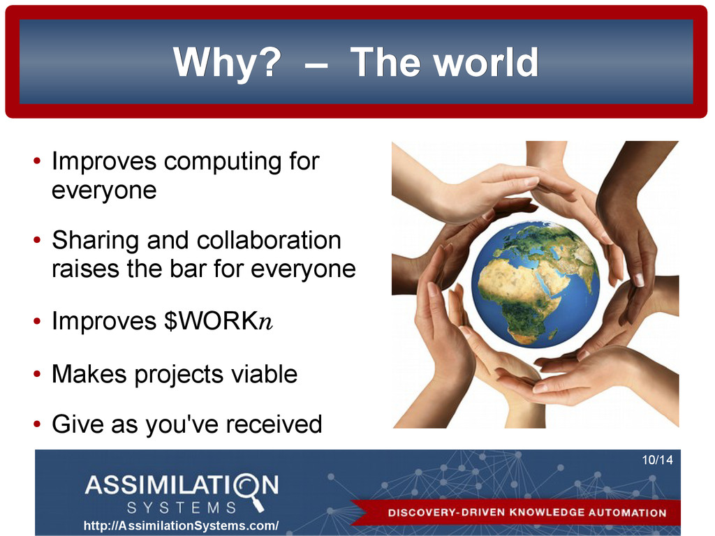 http://AssimilationSystems.com/ 10/14 Why? Why?...