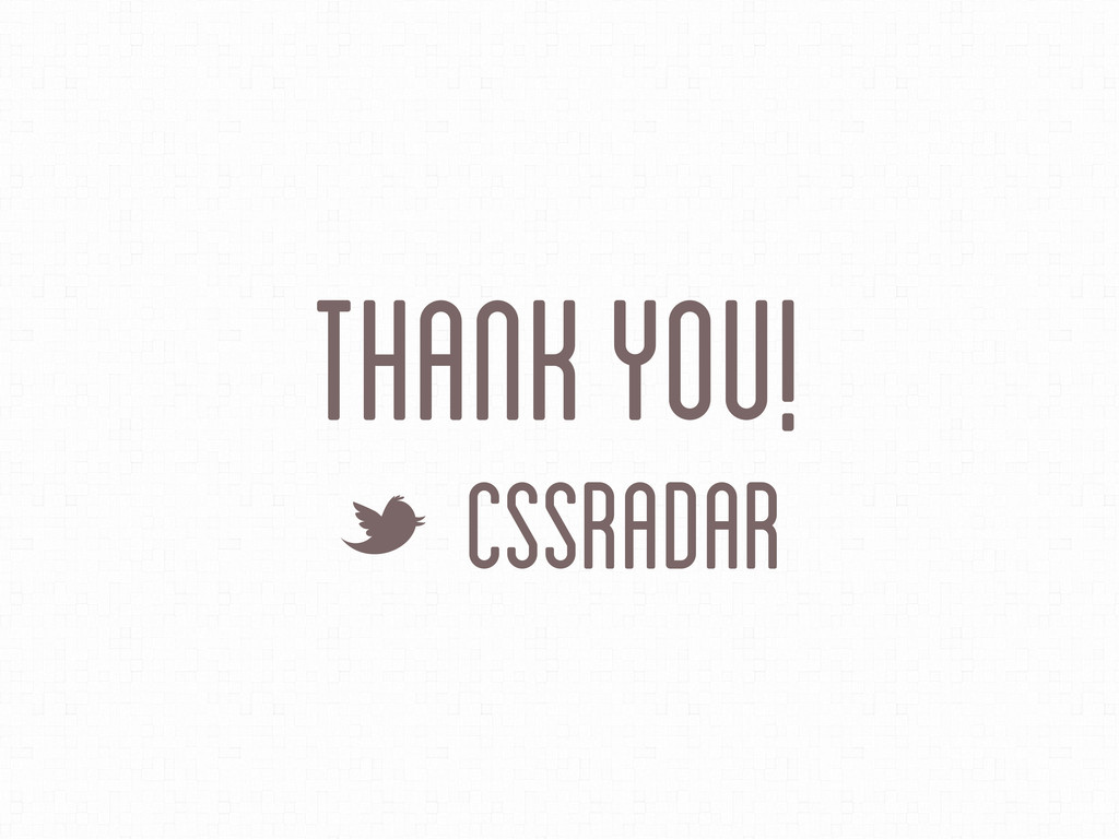 THank you! L CSSRadar