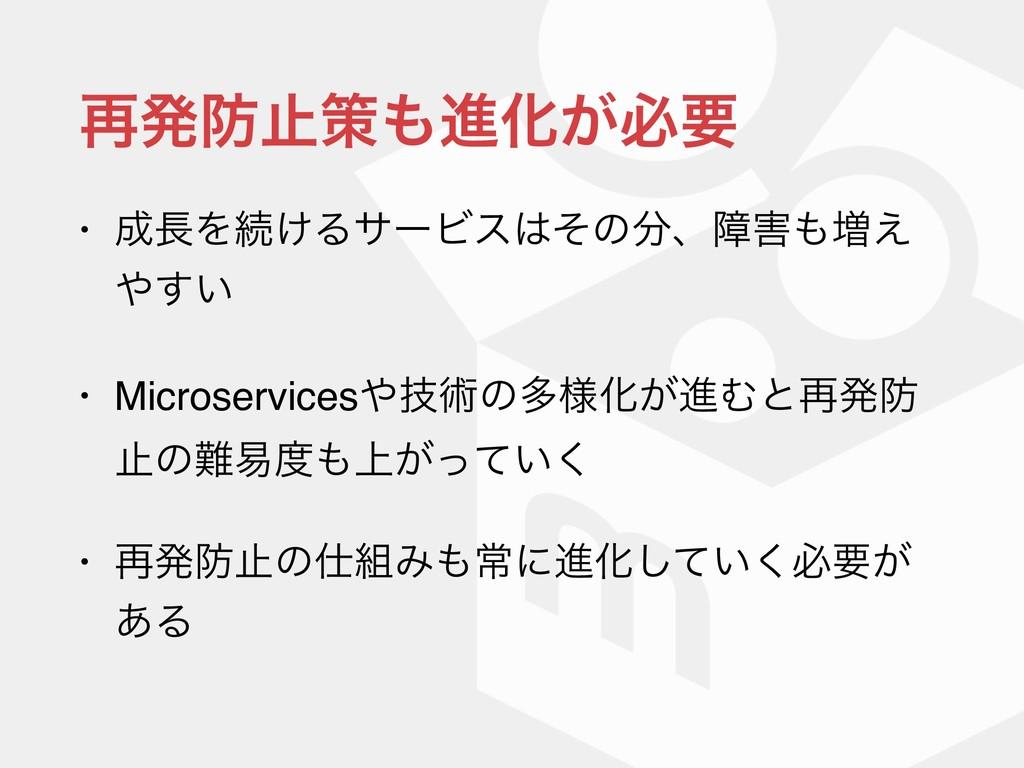 ࠶ൃࢭࡦਐԽ͕ඞཁ • Λଓ͚ΔαʔϏεͦͷɺো૿͑ ͍͢ • Micros...