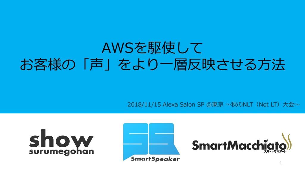 2018/11/15 Alexa Salon SP @東京 ~秋のNLT(Not LT)大会~...