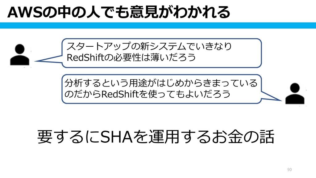 AWSの中の人でも意見がわかれる 90 スタートアップの新システムでいきなり RedShift...