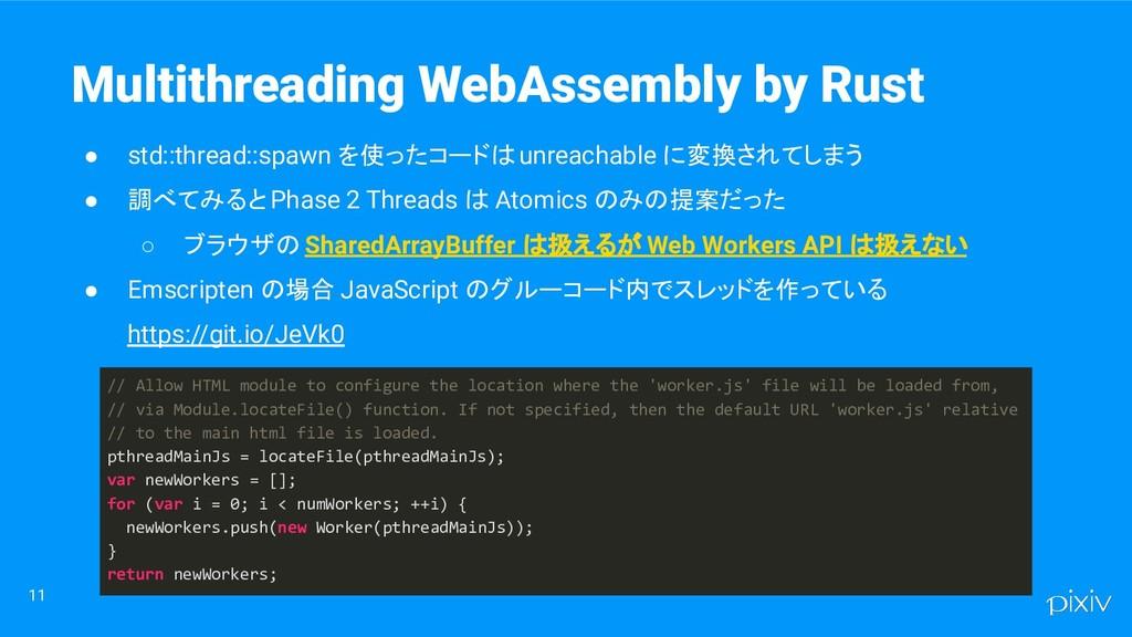 ● std::thread::spawn を使ったコードは unreachable に変換され...