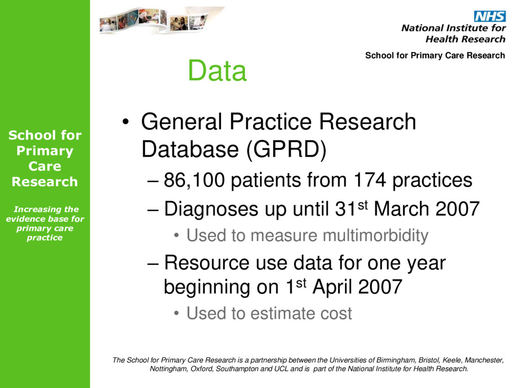 School for Primary Care Research Increasing the...