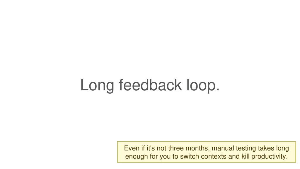 Long feedback loop.