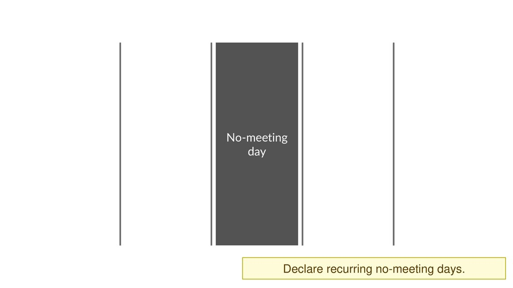 No-meeting day