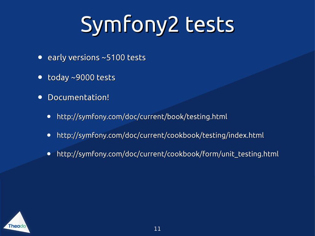 11 Symfony2 tests Symfony2 tests • early versio...