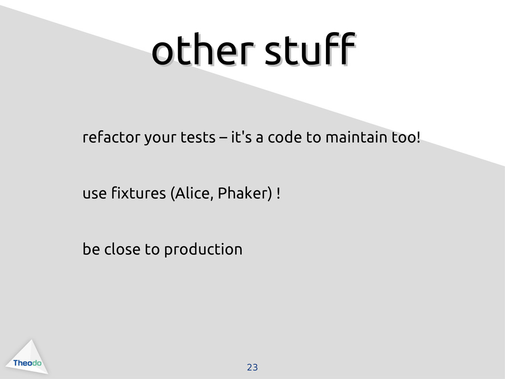 23 other stuff other stuff refactor your tests ...