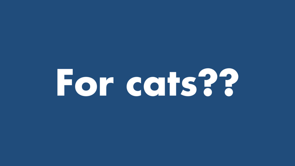 For cats??