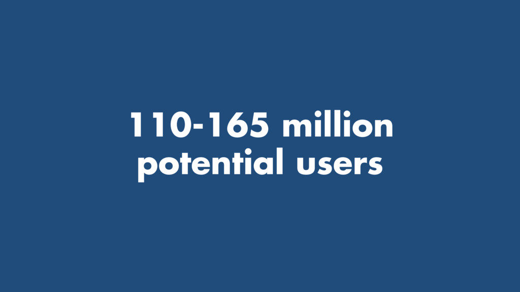 110-165 million potential users