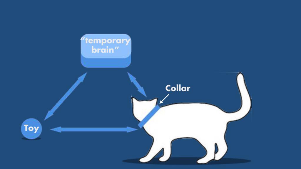 """temporary brain"" Toy Collar"