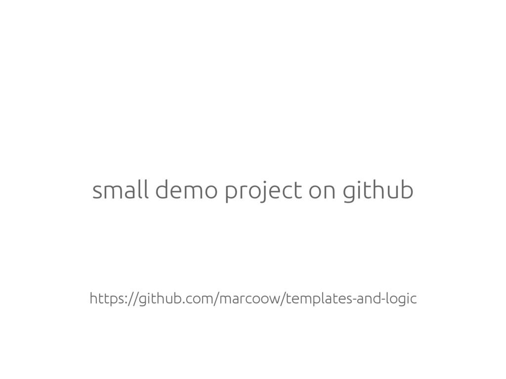small demo project on github https://github.com...