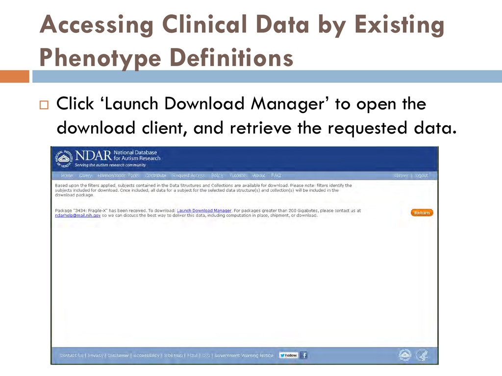 Accessing Clinical Data by Existing Phenotype D...