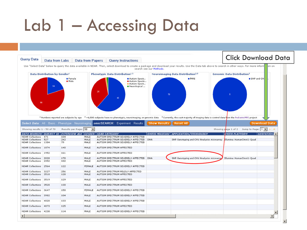 Lab 1 – Accessing Data Click Download Data