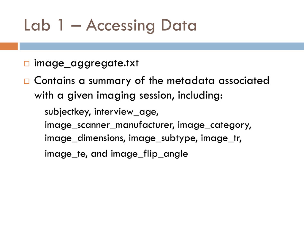 Lab 1 – Accessing Data  image_aggregate.txt  ...