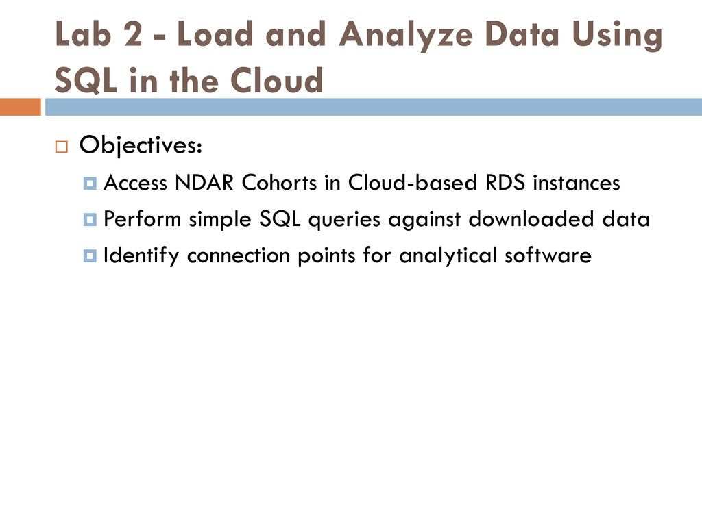 Lab 2 - Load and Analyze Data Using SQL in the ...