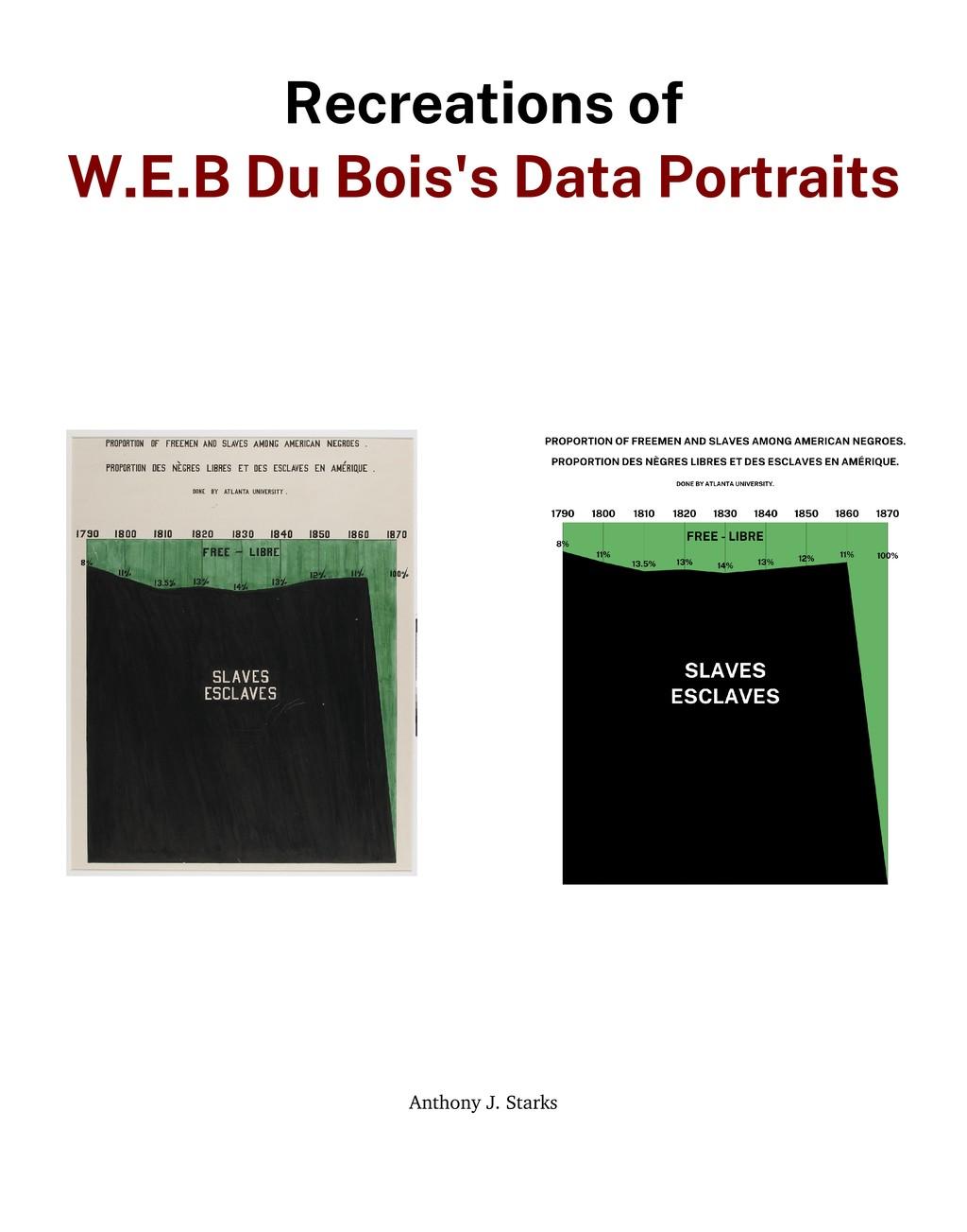 Recreations of W.E.B Du Bois's Data Portraits A...
