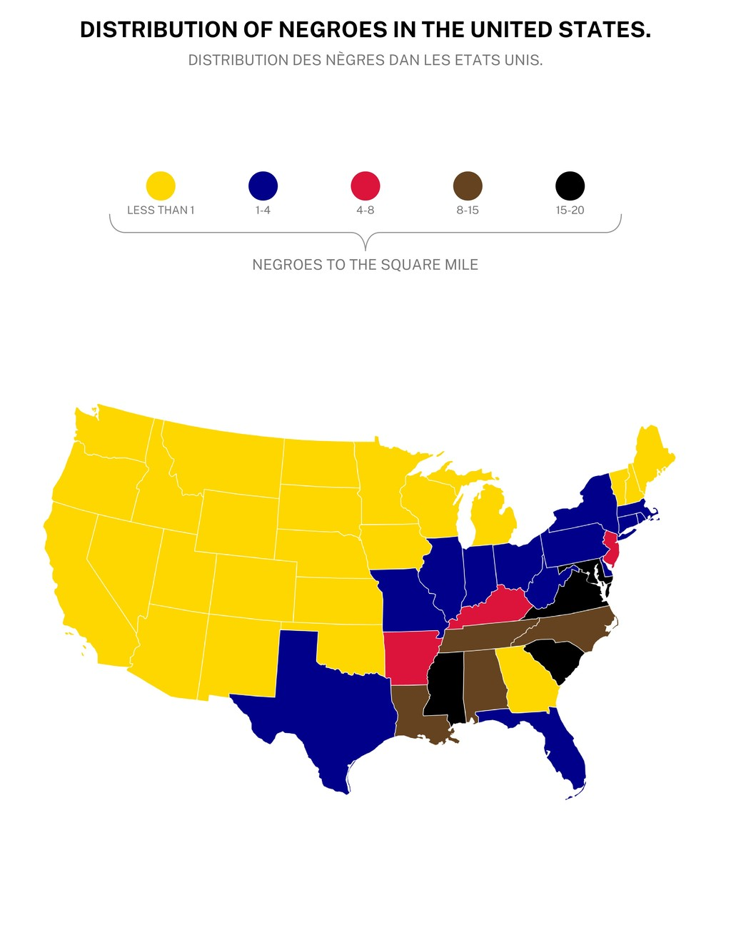 DISTRIBUTION OF NEGROES IN THE UNITED STATES. D...