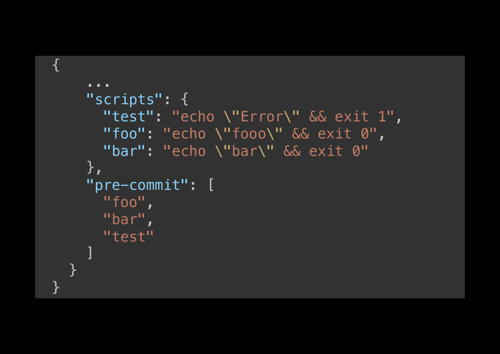"{! ...! ""scripts"": {! ""test"": ""echo \""Error\"" &..."