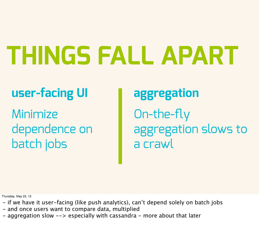 THINGS FALL APART aggregation On-the-fly aggrega...