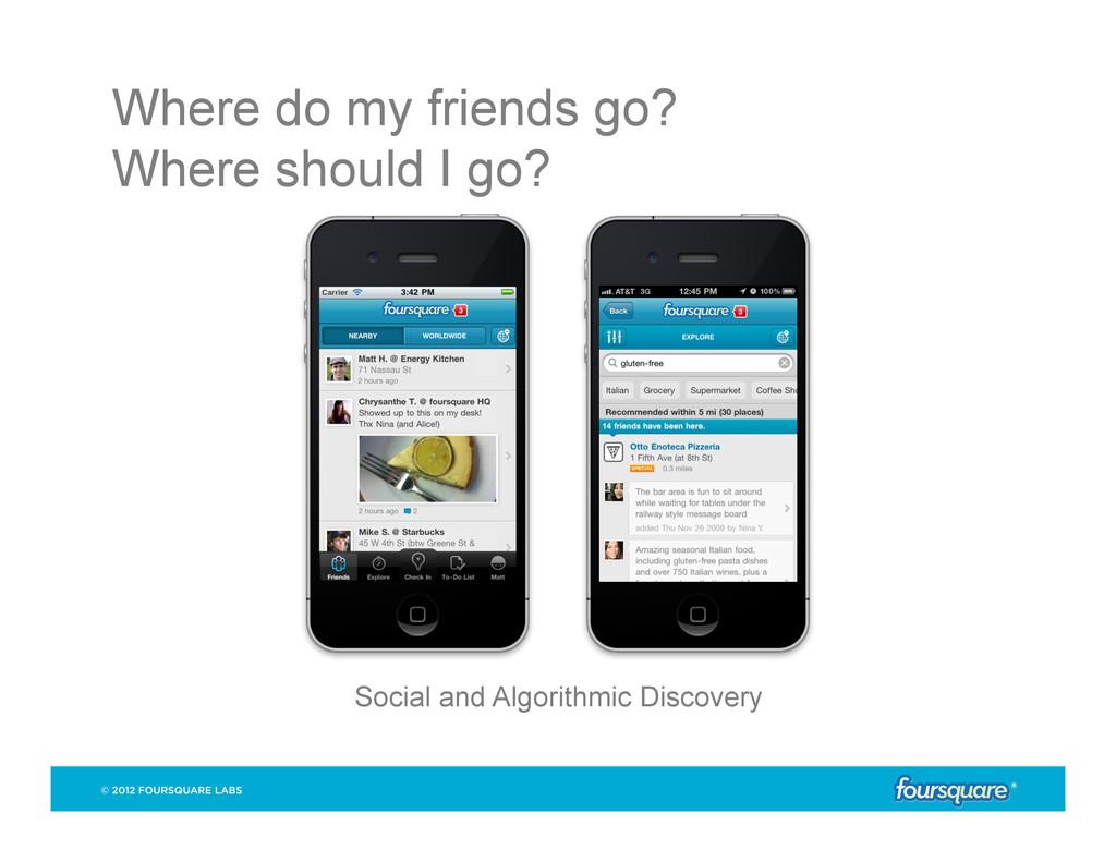 Where do my friends go? Where should I go? Soci...