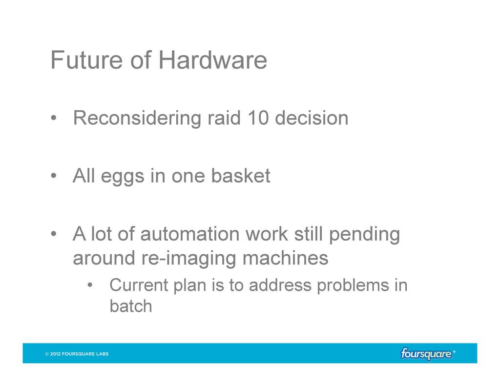 Future of Hardware • Reconsidering raid 10 dec...