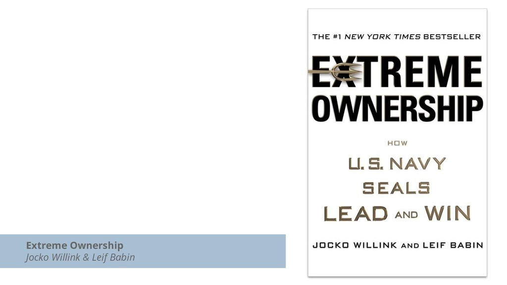 Extreme Ownership Jocko Willink & Leif Babin