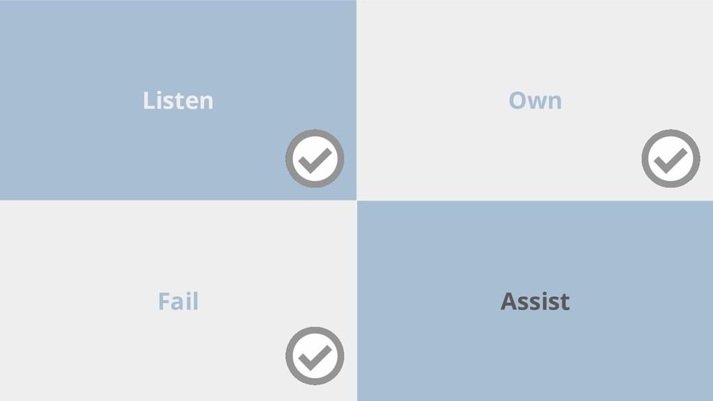 Fail Own Listen Assist
