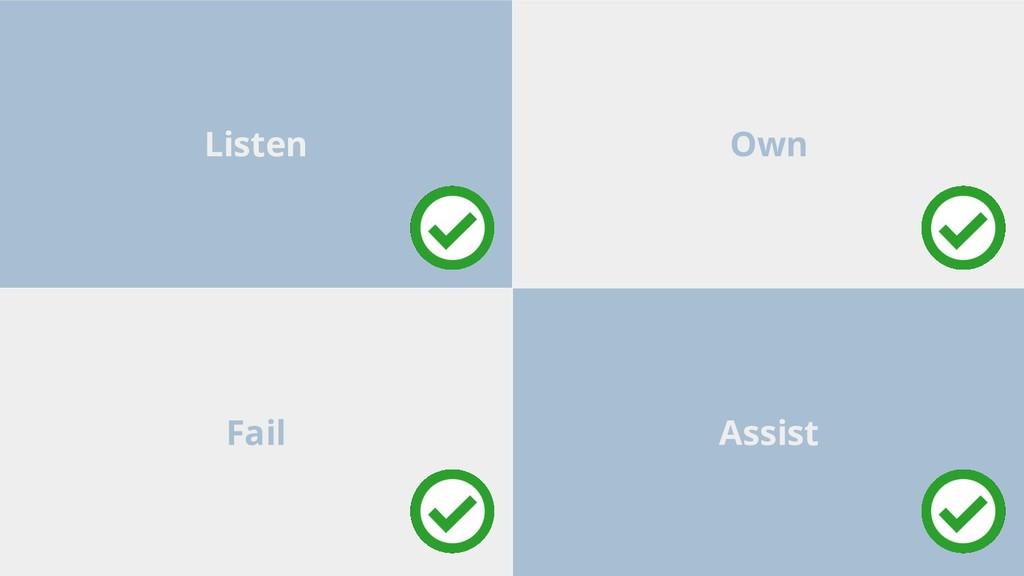 Assist Fail Own Listen
