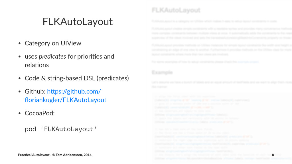 FLKAutoLayout • Category*on*UIView • uses*predi...