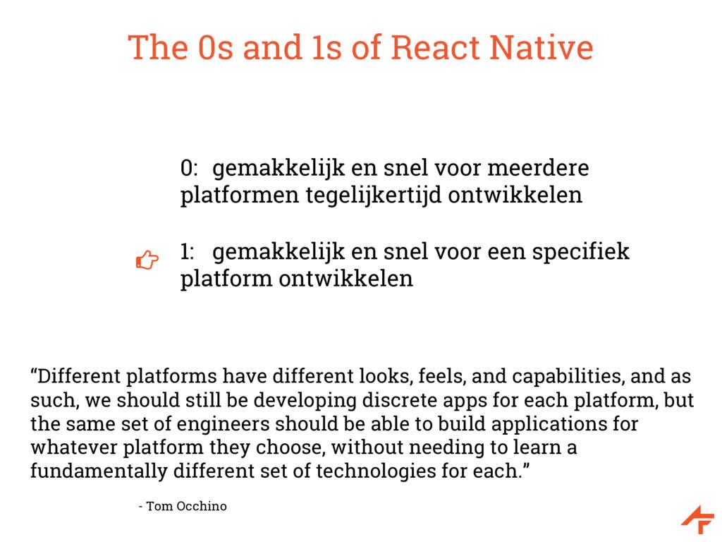 The 0s and 1s of React Native 0: gemakkelijk en...